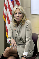 Fort Riley,  Kansas, USA, April, 6th 2016<br /> Dr. Jill Biden wife of Vice President Joe Biden visits The Fort Riley Middle School Credit: Mark Reinstein / MediaPunch