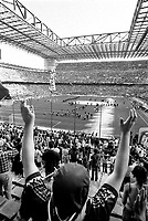 milano, stadio san siro. la fine della partita che porta il 17. scudetto al milan --- milan, san siro stadium. the end of the match that brings to milan a.c. the 17. championship shield