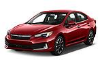 2021 Subaru Impreza Limited 4 Door Sedan Angular Front automotive stock photos of front three quarter view