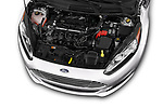 Car Stock 2017 Ford Fiesta SE 4 Door Sedan Engine  high angle detail view