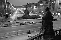 - Praga, Repubblica Ceca (allora Cecoslovacchia), gennaio 1986; piazza san Venceslao<br /> <br /> - Prague, Czech Republic (then Czechoslovakia), January 1986; St. Wenceslas Square