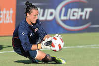 U.S. goalkeeper, Jill Loyden, warms-up prior to her first start for the U.S. Women's National Team. Republic of China, 2-1, Saturday, October 2, 2010, at the Atlanta Beat-KSU Soccer Stadium in Kennesaw, Georgia.