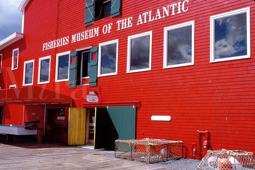 museum, Nova Scotia, Lunenburg, NS, Canada, Fisheries Museum of the Atlantic at the scenic village of Lunenburg, UNESCO World Heritage Site, on the Atlantic Ocean.