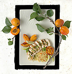 Chicken with Fresh Apricots, Ginger and Almonds. Portfolio only