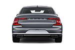 Straight rear view of a 2018 Volvo S90 Momentum 4 Door Sedan stock images