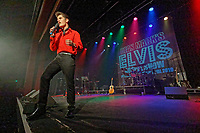 Pictured: 17 year old Emilio Santoro performs o stage for the dean Mack Elvis Gospel Show in the Porthcawl Pavilion. Sunday 29 September 2019<br /> Re: Porthcawl Elvis Festival in south Wales, UK.