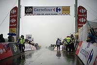 a rain-soaked Col de Joux Plane (HC/1691m/11.6km/8.5%) is waiting for the riders<br /> <br /> Stage 20: Megève › Morzine (146.5km)<br /> 103rd Tour de France 2016