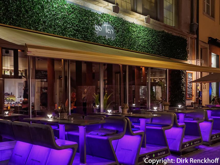 Bar Go Ten, Rue du marché-aux-Herbes, Luxemburg-City, Luxemburg, Europa<br /> Bar Go Ten, Rue du marché-aux-Herbes,, Luxembourg, Luxembourg City, Europe