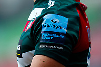21st November 2020; Welford Road Stadium, Leicester, Midlands, England; Premiership Rugby, Leicester Tigers versus Gloucester Rugby; Detail of a Leicester Tigers home shirt sleeve