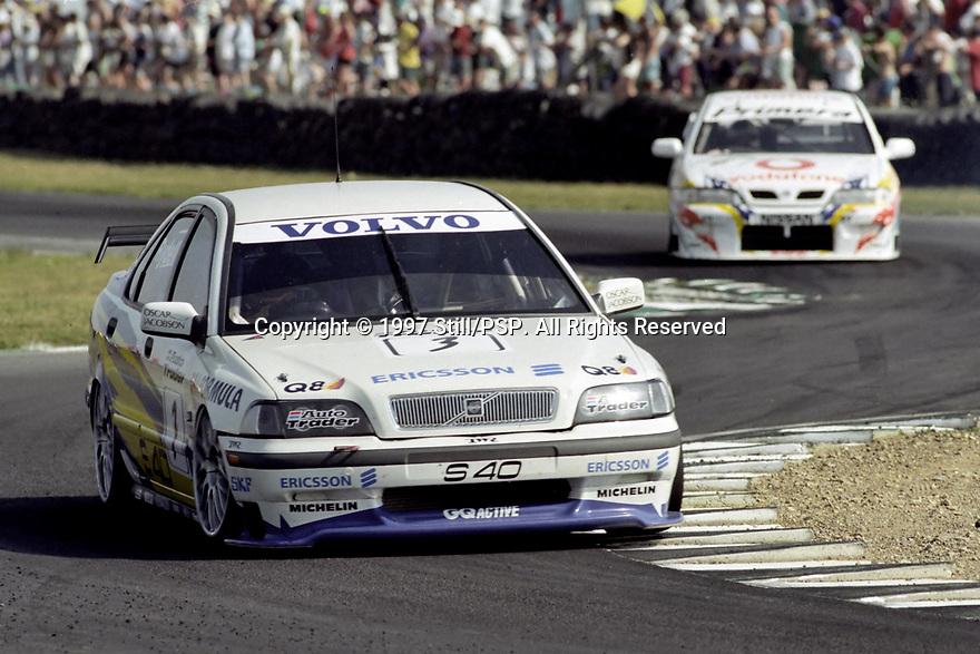British Touring Car Championship meeting. #3 Rickard Rydell (S). Volvo S40 Racing. Volvo S40.