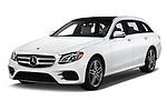 2020 Mercedes Benz E-Class  E450 5 Door Wagon angular front stock photos of front three quarter view