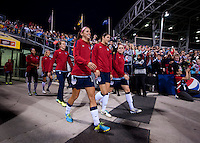 Alex Morgan, Yael Averbuch, Heather O'Reilly. The USWNT tied New Zealand, 1-1, at an international friendly at Crew Stadium in Columbus, OH.
