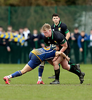 Wednesday 20th March 2019 | 2019 Schools Shield Final<br /> <br /> Henry Redpath-Wooley during the 2019 Ulster Schools Cup Final between Sullivan and Bangor Grammar at The Dub Arena, Queens University, Belfast, Northern Ireland. Photo by John Dickson / DICKSONDIGITAL
