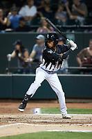 Terrell Tatum (7) of the Winston-Salem Dash at bat against the Asheville Tourists at Truist Stadium on September 17, 2021 in Winston-Salem, North Carolina. (Brian Westerholt/Four Seam Images)
