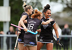 North goal. Women's North v South hockey match, St Pauls Collegiate, Hamilton, New Zealand. Sunday 18 April 2021 Photo: Simon Watts/www.bwmedia.co.nz