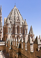Catedral Viejo tower, romanesque-byzantine, started 1120, Salamanca, Spain