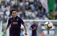 Football, Serie A: S.S. Lazio - Fiorentina, Olympic stadium, Rome, 7 ottobre 2018. <br /> Fiorentina's Federico Chiesa in action with during the Italian Serie A football match between S.S. Lazio and Fiorentina at Rome's Olympic stadium, Rome on October 7, 2018.<br /> UPDATE IMAGES PRESS/Isabella Bonotto