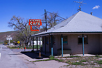 Echo Cafe in Echo, Utah. The city of Echo was once a junction point on the Lincoln Highway for travelers heading west to Salt Lake City or Ogden, Utah.