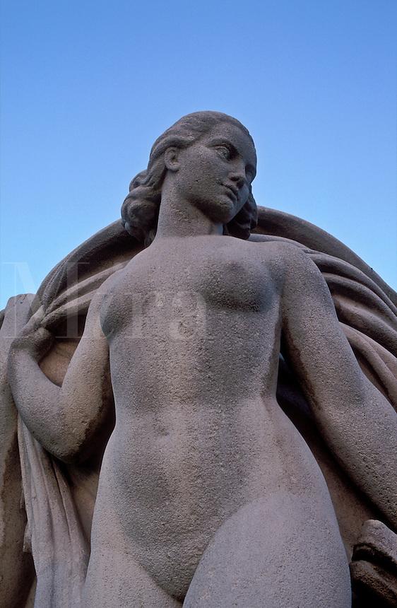 France, Paris, Statue at Trocadero