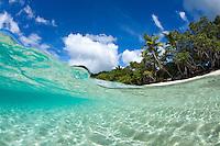 Split level view .Turtle Bay, Caneel Bay Resort.Virgin Islands National Park.St. John, U.S. Virgin Islands