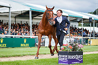 NZL-Dan Jocelyn presents Dassett Cool Touch during the First Horse Inspection. 2018 GBR-Land Rover Burghley Horse Trials CCI4*. Wednesday 29 August. Copyright Photo: Libby Law Photography