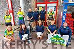 Cycling for The Skellig Stars, promoting the 54321 Challenge at the Market House on Saturday were front l-r; Marian Kelly, Patricia Clifford, Rita O'Sullivan, Teresa Croniin, Elaine O'Sullivan, bck l-r; Angela O'Connor, Brendan Sheehan, Dan O'Sullivan, Michael O'Sullivan, Graham O'Sullivan & Denis Daly.
