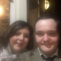 """Pictured: Ben Davies (R) with his fiancee Emily Russ.<br /> Re: Tributes have been paid to a senior member of staff at the Welsh Conservatives who died following an accident on his stag do.<br /> Ben Davies, 32, died on Sunday, a week after falling into a coma while on the Greek island of Mykonos.<br /> It is understood Mr Davies, from Cardiff, suffered a head injury following a fall.<br /> The deputy chief of staff of the Tory group in the assembly was due to marry his fiancee Emily Russ in three weeks.<br /> Vincent Bailey, a close friend and colleague of Mr Davies, said: """"He was incredibly bright and such a big character."""