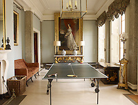 A new entrance hall was commissioned from the architect Christopher Smallwood which is dominated by a table tennis table and a full-length portrait by Thomas Lawrence