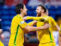 13th March 2021; Global Energy Stadium, Dingwall, Highland, Scotland; Scottish Premiership Football, Ross County versus Hibernian; Martin Boyle of Hibernian celebrates after scoring equalising goal with Joe Newell of Hibernian in 52nd minute
