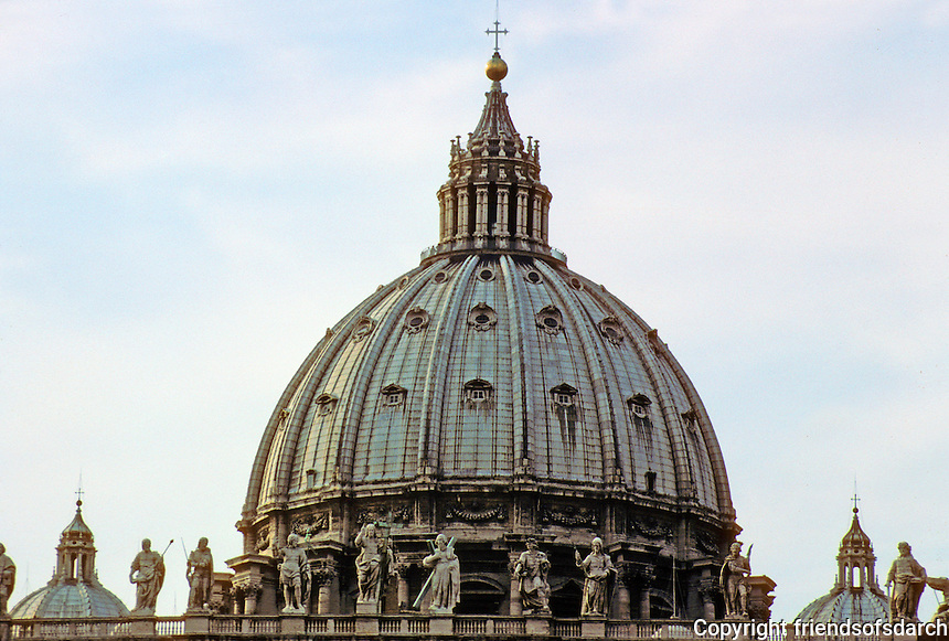 Italy: Rome--St. Peter's, Dome by Michelangelo. Photo '82.