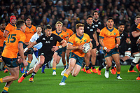 Australia's Andrew Kellaway in action during the Bledisloe Cup rugby match between the New Zealand All Blacks and Australia Wallabies at Eden Park in Auckland, New Zealand on Saturday, 7 August 2021. Photo: Dave Lintott / lintottphoto.co.nz
