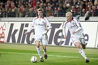 Toni Kroos und Christian Lell (Bayern)<br /> Eintracht Frankfurt vs. FC Bayern Muenchen, Commerzbank Arena<br /> *** Local Caption *** Foto ist honorarpflichtig! zzgl. gesetzl. MwSt. Auf Anfrage in hoeherer Qualitaet/Aufloesung. Belegexemplar an: Marc Schueler, Am Ziegelfalltor 4, 64625 Bensheim, Tel. +49 (0) 6251 86 96 134, www.gameday-mediaservices.de. Email: marc.schueler@gameday-mediaservices.de, Bankverbindung: Volksbank Bergstrasse, Kto.: 151297, BLZ: 50960101