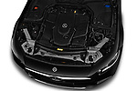 Car stock 2019 Mercedes Benz CLS Coupe AMG line 4 Door Sedan engine high angle detail view