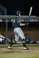 Gunner Peterson (38) (Illinois State University) of the Wilson Tobs at bat against the High Point-Thomasville HiToms at Finch Field on July 17, 2020 in Thomasville, NC. The Tobs defeated the HiToms 2-1. (Brian Westerholt/Four Seam Images)