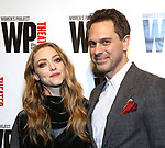 Amanda Seyfried and Thomas Sadowski attends the WP Theater's 40th Anniversary Gala -  Women of Achievement Awards at the Edison Hotel on April 15, 2019  in New York City.