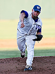 Fort Worth Cats Pitcher Derek Blacksher (23) in action during the American Association of Independant Professional Baseball game between the Amarillo Sox and the Fort Worth Cats at the historic LaGrave Baseball Field in Fort Worth, Tx. Fort Worth defeats Amarillo 5 to 3.