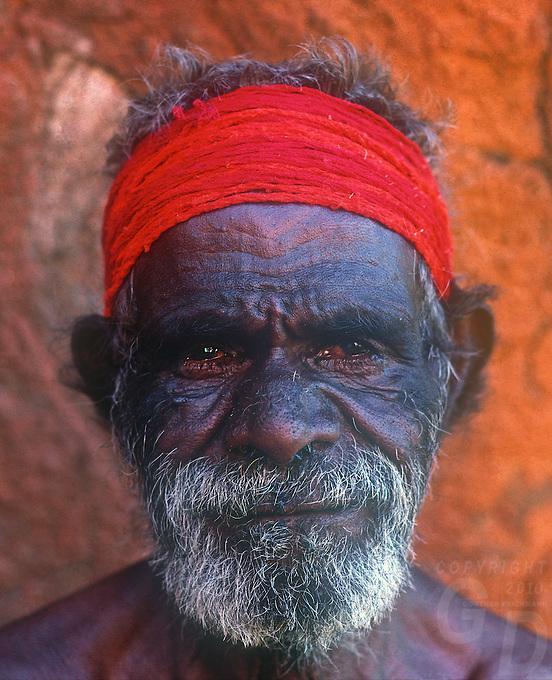 Tribal Aboriginal from Uluru, Ayers Rock, Central Australia, Northern Territory,