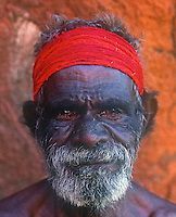 Tribal Aboriginal from Uluru, Ayers Rock, Central Australia, Northern Territory,