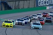 #9: Noah Gragson, JR Motorsports, Chevrolet Camaro Nationwide Children's and #19: Brandon Jones, Joe Gibbs Racing, Toyota Supra Menards/Swiffer