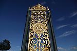 The gate of Tuileries Garden face Concorde Square place de la Concorde. Paris. France