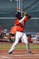 San Francisco Giants Lucius Fox (16) during an instructional league game against the Kansas City Royals on October 22, 2015 at the Giants Baseball Complex in Scottsdale, Arizona.  (Mike Janes/Four Seam Images)
