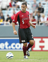 26 June 2004:  Dallas Burn Steve Jolley in action against DC United at Cotton Bowl in Dallas, Texas.   DC United and Dallas Burn are tied 1-1 after the game.   Credit: Michael Pimentel / ISI