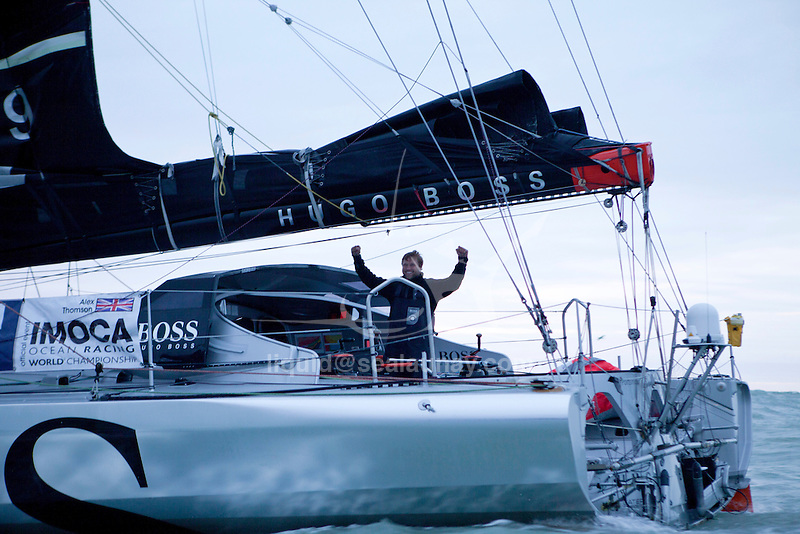 By finishing his single-handed, non-stop round-the-world race without assistance on Wednesday morning in 80 days, 19 hours, 23 minutes and 43 seconds, Alex Thomson (HUGO BOSS) has become the fastest British sailor on that route..The Vendée Globe is a round-the-world single-handed yacht race, sailed non-stop and without assistance.