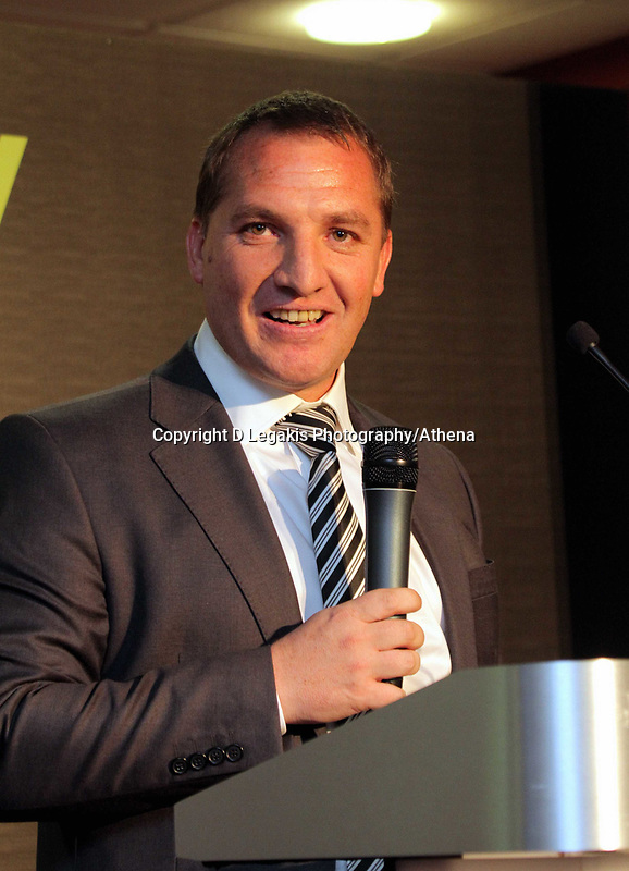 Pictured: Manager Brendan Rodgers. Wednesday 04 May 2011<br /> Re: Swansea City FC supporters Trust annual dinner at the Liberty Stadium, Swansea, south Wales.