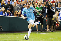 James Milner (7) Manchester City in action..Manchester City defeated Chelsea 4-3 in an international friendly at Busch Stadium, St Louis, Missouri.