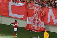 NATAL, 10.05.2014 - Adalberto do América RN comemora o gol do empate no jogo contra Atlético GO pela quarta rodada do Campeonato Brasileiro da Série B disputado neste sábado no estádio Arena das Dunas. (Foto: Néstor J. Beremblum / Brazil Photo Press)