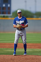 Los Angeles Dodgers pitcher Sven Schuller (29) during an instructional league game against the Cleveland Indians on October 15, 2015 at the Goodyear Ballpark Complex in Goodyear, Arizona.  (Mike Janes/Four Seam Images)