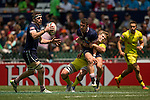 Australia vs Scotland during the HSBC Sevens Wold Series match as part of the Cathay Pacific / HSBC Hong Kong Sevens at the Hong Kong Stadium on 28 March 2015 in Hong Kong, China. Photo by Victor Fraile / Power Sport Images