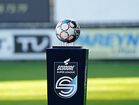 Match ball pictured before a female soccer game between Eendracht Aalst and Racing Genk on the fifth matchday of the 2020 - 2021 season of Belgian Scooore Womens Super League , Saturday 28 th of November 2020  in Aalst , Belgium . PHOTO SPORTPIX.BE | SPP | SEVIL OKTEM