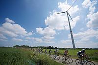 windpowered peloton<br /> <br /> 2014 Belgium Tour<br /> stage 4: Lacs de l'Eau d'Heure - Lacs de l'Eau d'Heure (178km)